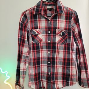 Streetwear Society plaid button up long sleeves